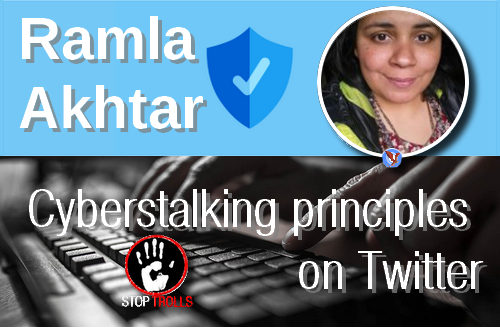 "On November 19, Ramla Akhtar, BetterBonds shop manager at Hussaini Hunza, started her daily cyberstalking at 7:00 AM, Pakistani time. In 24 minutes she produced 12 harassment and calumnious delation tweets under her « barefootRamster » account (previously called ""Yeng Faqila""). They were all targeting the same person. In such a short period of time, such a volume is amazing. This unusual productivity has, however, some tangible explanations."