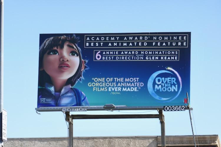 Over the Moon Oscar nominee billboard