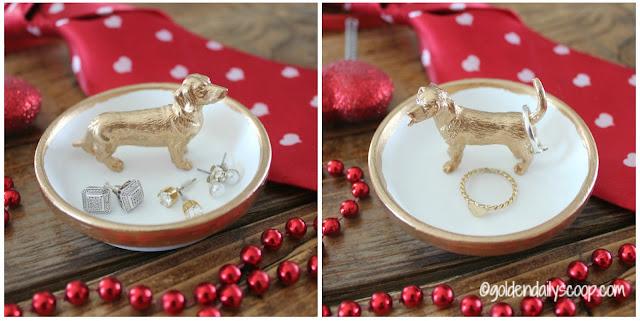 dog ring holder diy gift for Valentine's Day