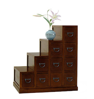 Diseño de mueble chino con cajones