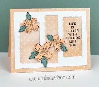 Stampin' Up! Flowers of Friendship Card with Picture This Window Die ~ Sunday Stamping VIDEO ~ 2021-2022 Stampin' Up! Annual Catalog ~ www.juliedavison.com #stampinup