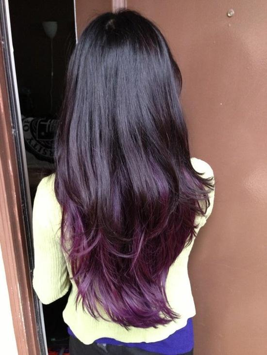 black violet ombre hair - photo #7