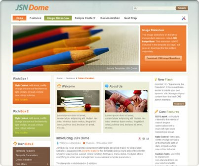 Free JSN Dome Version 2.3.0 Joomla 2.5 / 1.7 Templates