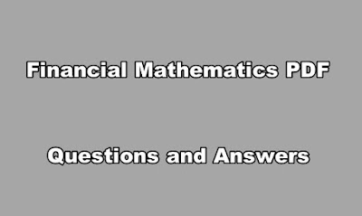 Financial Mathematics PDF Questions and Answers
