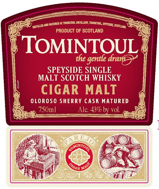 Tomintoul Cigar Malt label