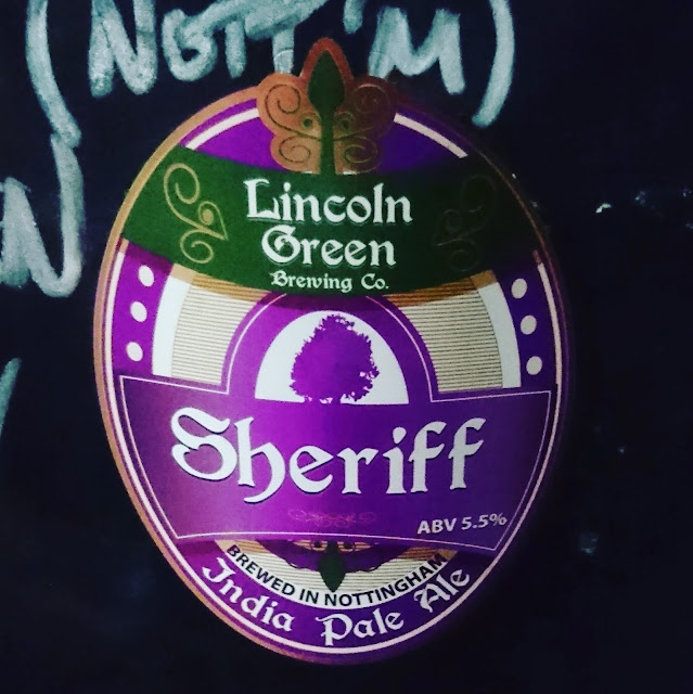 Nottinghamshire Craft Beer Review: Sheriff from Lincoln Brewing Co. real ale pump clip