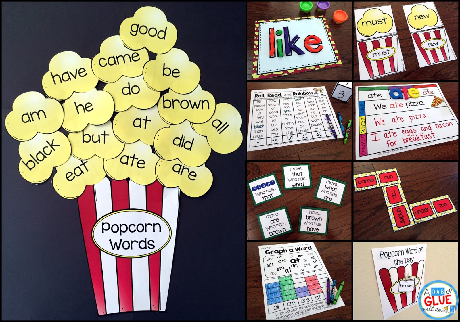 Winner Wednesday Popcorn Words Bundle Dolch Primer