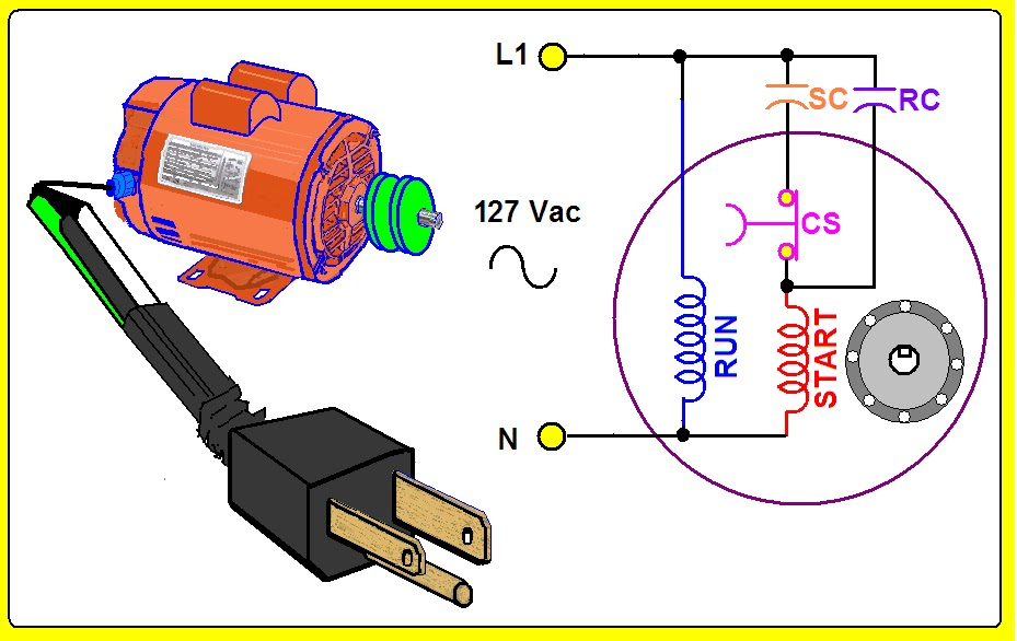 Single Phase Motor Centrifugal Switch on electric schematic circuit diagram