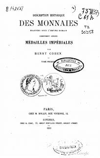 Cohen - Description historique des monnaies frappées sous l'Empire Romain - Image