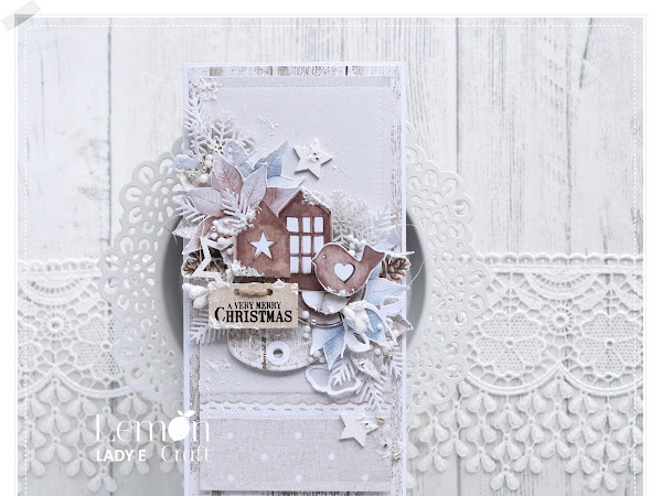 Monochrome Christmas Card without Flowers