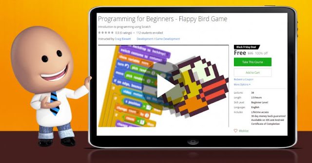 [100% Off] Programming for Beginners - Flappy Bird Game| Worth 95$