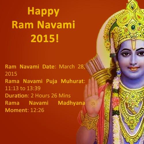 Read about the festival Muhurat of Ram Navami.