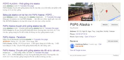 Bạn lên google map tìm từ khóa PôPô Alaska