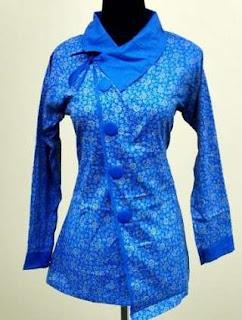 contoh model baju batik wanita kantor