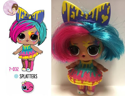 Splatters Art Club L.O.L. Surprise doll wave 1 hair goals