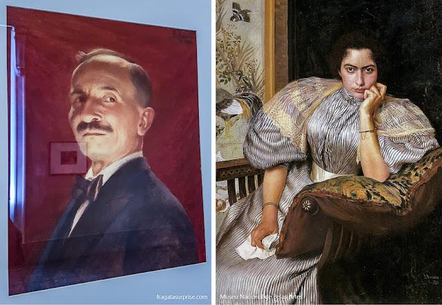 """O """"Autorretrato"""" de Rodolfo Amoedo e """"Más Notícias"""", pintado por ele em 1895"""