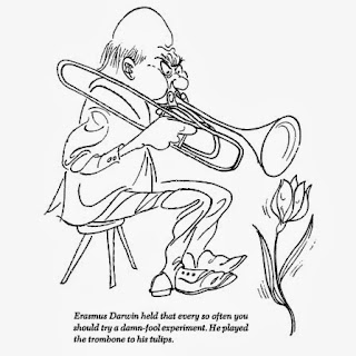 Erasmus Darwin and his trombone