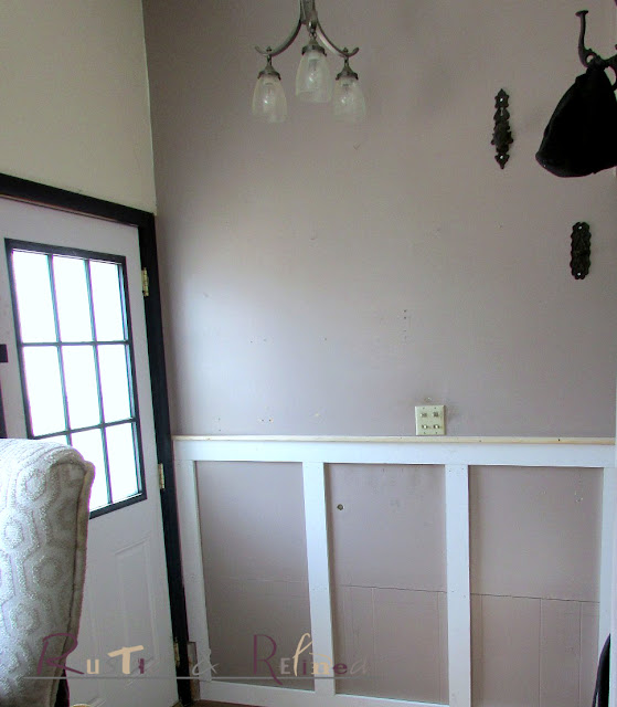 Using galvanized metal and pre-primed lumber for industrial wainscoting..