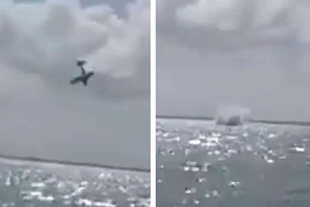 Самолёт должен был объявить пол будущего ребёнка, но вместо того разбился, двое погибли — видео