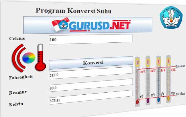 Program Konversi Suhu Celcius,Fahrenheit, Reamur Dan Kelvin  Model Baru