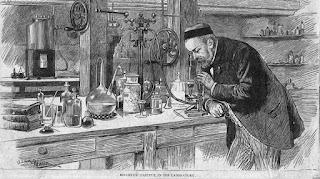 Louis Pasteur, en su laboratorio