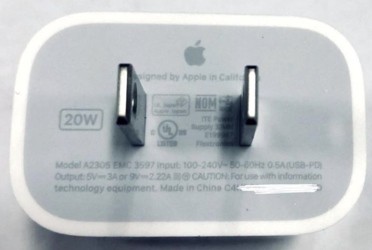 "The rumored ""iPhone 12"" 20W charger passed certification"