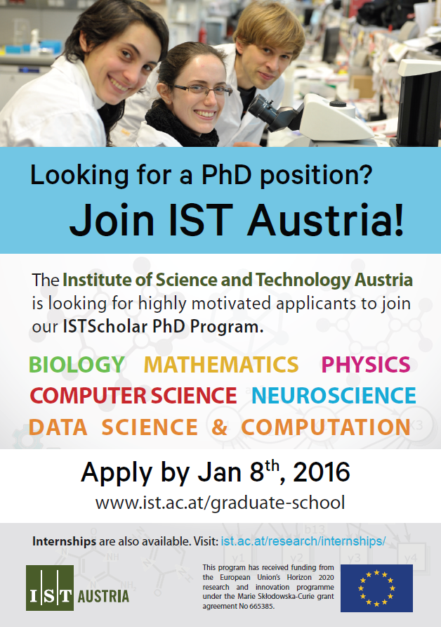 Plakat ISTScholar PhD Program
