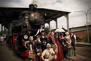 Gruppenphoto der Steampunkausfahrt mit dem Hessencourrier | www.zeitunschaerfe.de