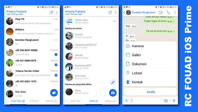 Aplikasi Whatsapp Mod iPhone X for Android Terbaru 2019