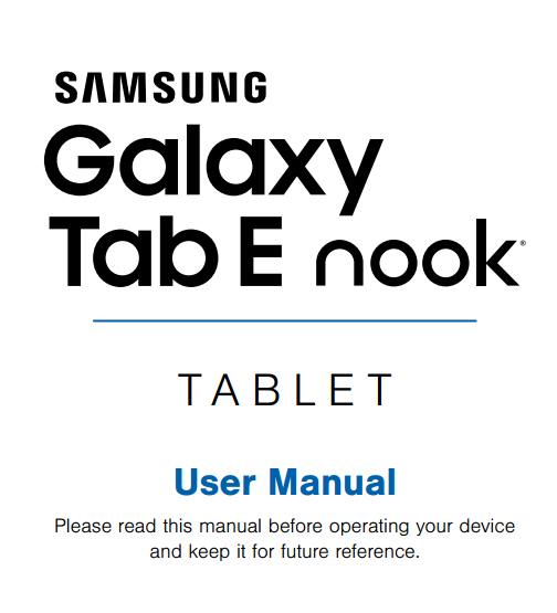 how to use samsung galaxy tab e