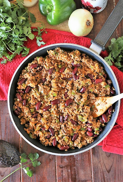 How to Make Ground Beef Burrito Bowl Skillet Image
