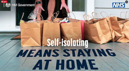 Self isolating means staying at home