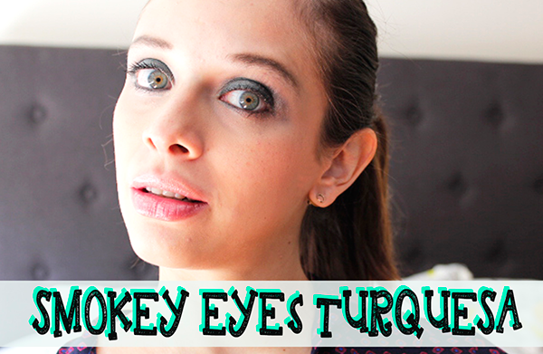 smokey eyes turquesa