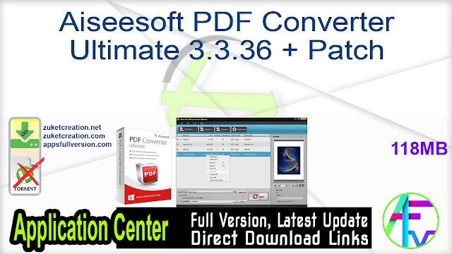 Aiseesoft PDF Converter Ultimate 3.3.36 + Patch