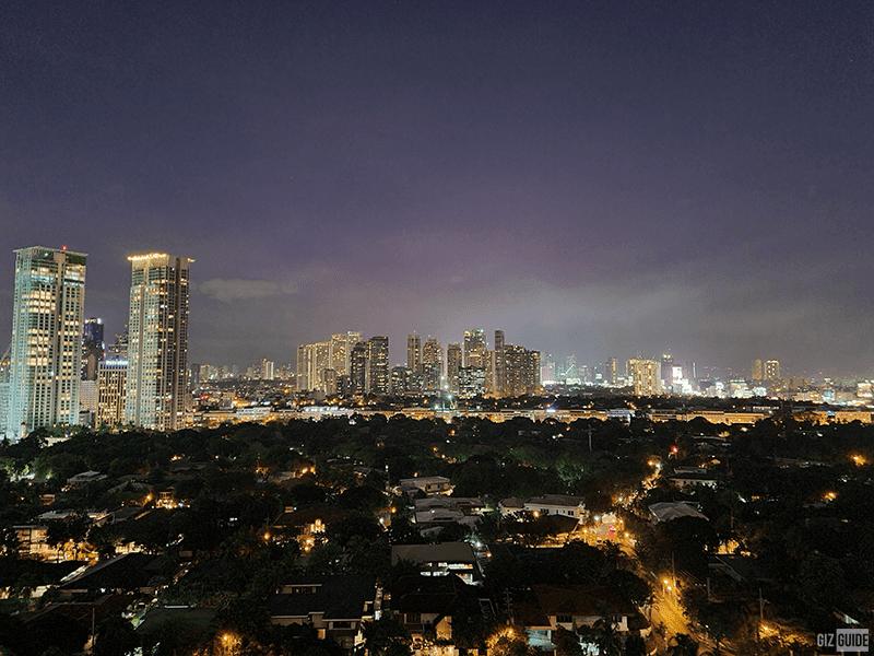 Standard wide camera Night mode
