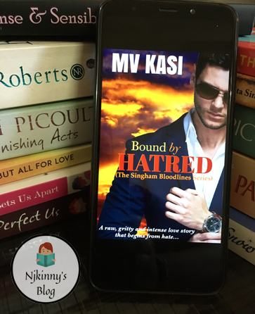 #AtoZChallenge: B for Bound by Hatred: Falling in love with the enemy by M.V. Kasi ~26 Must-Read Romance Books A-Z