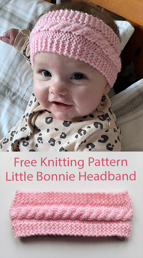 Little Bonnie Cabled Earwarmer Headband