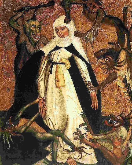 Santa Catarina de Siena assediada pelos demônios