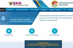 Pendaftaran CPNS hanya melalui portal https://sscn.bkn.go.id/