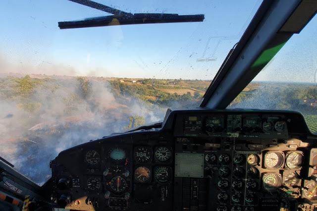 Gli elicotteri del 3° REOS contro le fiamme nel Lazio