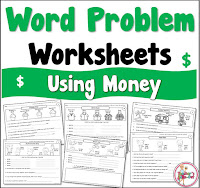 20 Word Problem Worksheets using Money