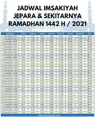 Jadwal imsakiyah ramadhan 2021 jepara