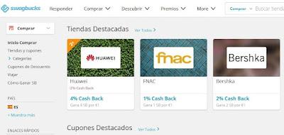 Swagbucks - ganar dinero Cashback