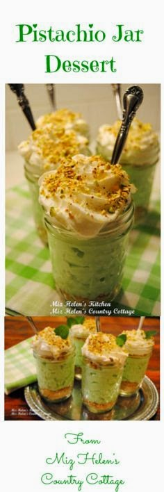 Pistachio Jar Dessert at Miz Helen's Country Cottage