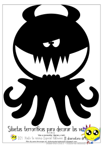 DIY - Siluetas de monstruos para decorar tu ventana en Halloween