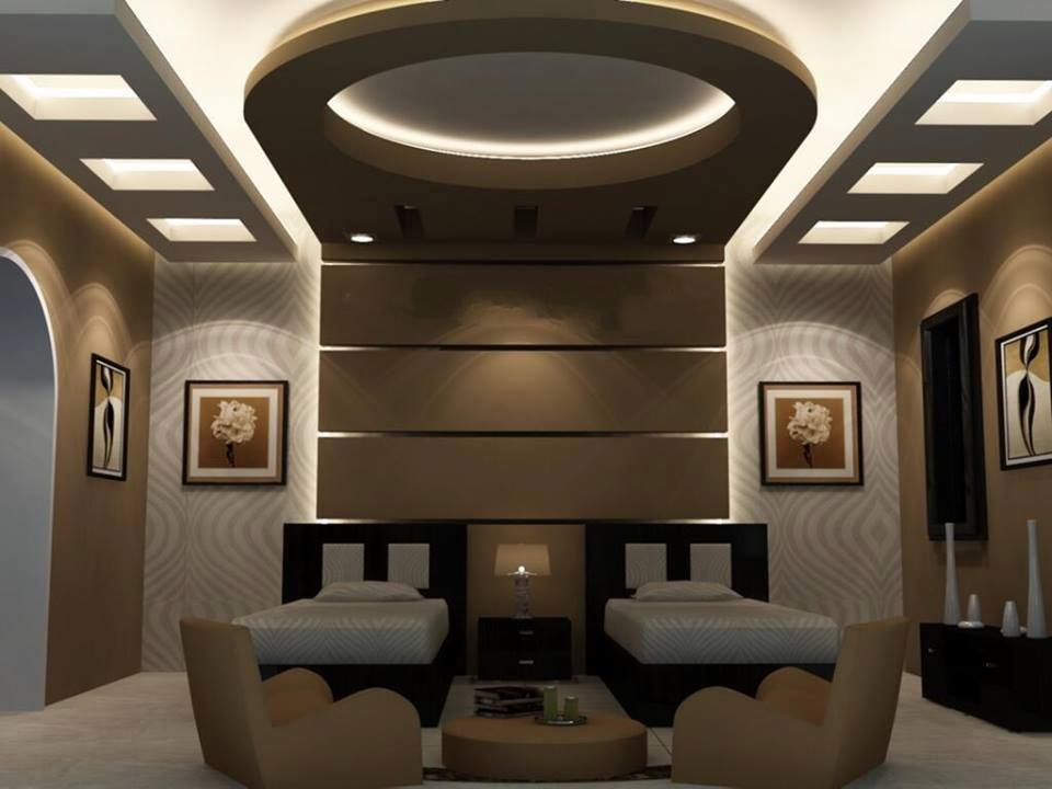 25 decorative plasterboard wall designs and room dividers - Bedroom gypsum ceiling designs ...