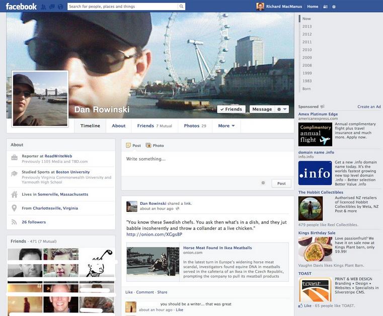 Evolusi Desain Facebook tahun 2013