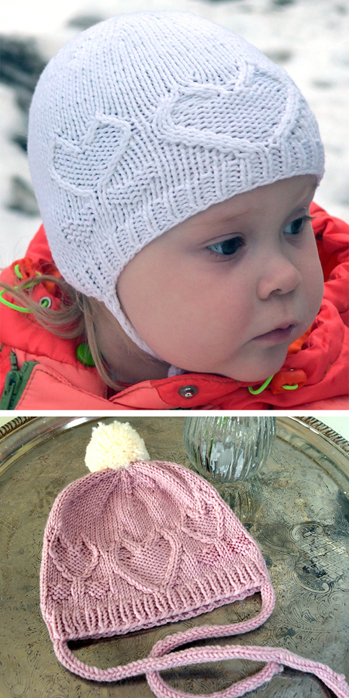 From the Heart Bonnet or Beanie - Free Pattern
