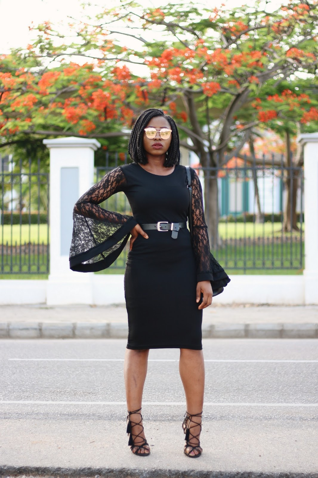 little black dress, lace, lbd, black, lace up heels, made in Nigeria