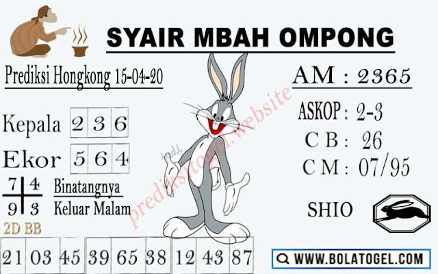 Kode Syair Hk Rabu 15 April 2020